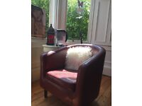Beautiful Comfy Red Leather Look Chair for office or home