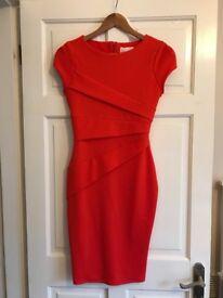 Unworn coral Jessica dress - size 8