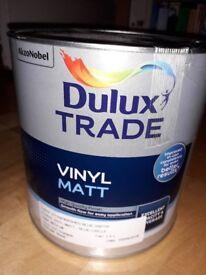 Unopened/ sealed 2.5 litre of Dulux Stonewash Blue paint