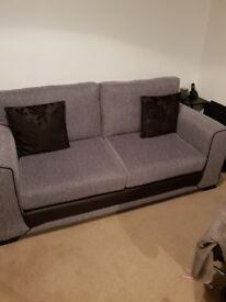 Black and grey fabric 3 seater from scs