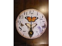 Large Butterfly Clock
