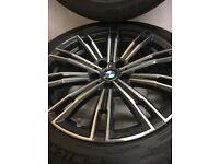 790 G20 OR G21 BMW 3 SERIES GENUINE 18 INCH ALLOY WHEELS AND RUN FLAT TYRES LIKE NEW