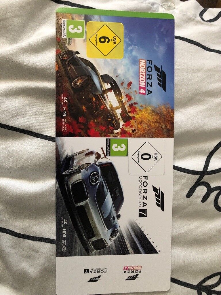 Forza horizon 4 and motorsport 7 download code | in Liverpool, Merseyside |  Gumtree
