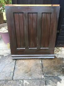 Hardwood Stable Door 200cm x 76cm Walnut Varnished on outside and Natural Varnish inside
