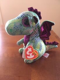 Ty Beanie Babies 37052 Boos Cinder the Dragon Boo Buddy