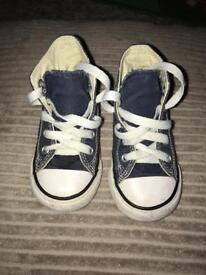 Baby Converse hi-tops (UK 6)