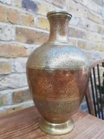 Antique Gold Brass Vase