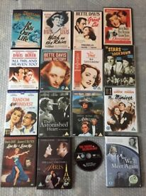 Classic DVDs including films starring Bette Davis