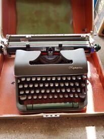 Vintage type writer Olympia