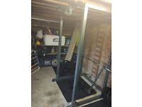 BodyMax CF475 squat rack, bench and weights,