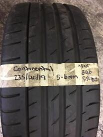 235/40/19 235-40-19 2354019 continental tyre