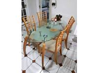 Dining table with chairs free local delivery in leicester