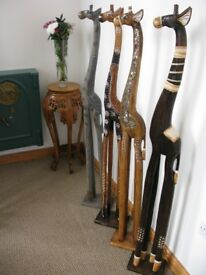 150CM 1.5METRE **NEW** WOODEN GIRAFFES – UK DELIVERY - CHOSE FROM 5 STYLES ALL HAND CARVED