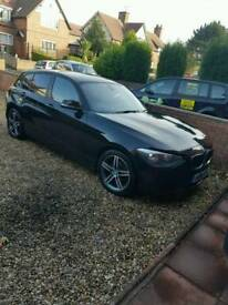 BMW 1 Series black 2.0 116D diesal EFFICIENTDYNAMICS 5d 1 Owner