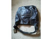 Leather Handbag With Internal Zip Pockets New