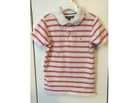Tommy Hilfiger Boys Top - age 6 plus - red and white striped