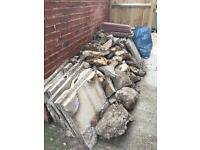Rubble including slabs