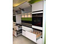 Ex-display Kitchen German Gloss White Red Quartz Caesarstone Worktop Appliances