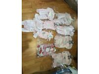 Brand new premature baby clothes and blankets