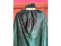 Anna coronation green velvet cloak