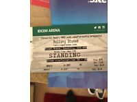 2 x Rolling Stones tickets Ricoh arena