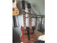 Double neck sg style electric guitar (project)