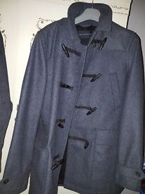 French Connection Mens Grey Duffel Coat