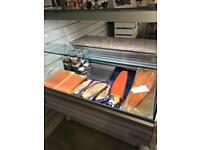 One metre Serve Over Deli Counter (slimline) Good Condition