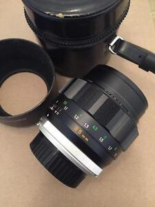 Rare Minolta MC Rokkor-PF 85mm f1.7 MD manual focus with case hood and warranty