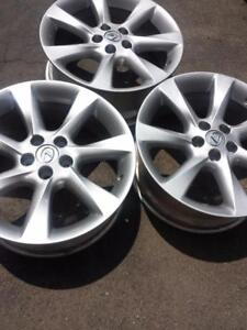 THREE WHEELS ONLY NOT FOUR. BRAND NEW TAKE OFF LEXUS RX 350 FACTORY OEM 19 INCH ALLOY WHEELS.