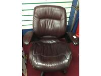 Swivel leather chair office chair
