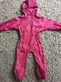 Girls all in one waterproof age 12-18 months