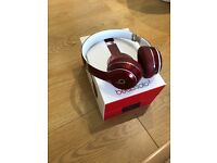 Beats Solo 2 Red Luxe Edition wired