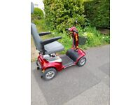 Red Mobility Scooter - Perrero Shoprider 6mph with lights New Batteries