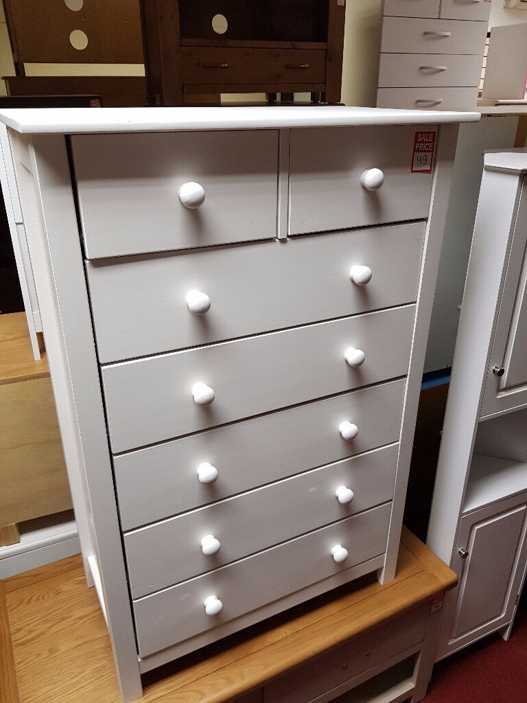 scandinavia 5+2 drawerc hest white
