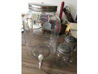 Glass drinks dispenser, 2 litres
