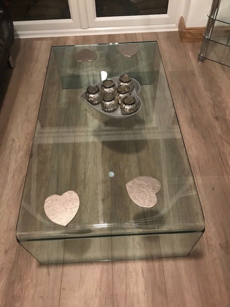Glass Coffee Table measures 1200mm x 650mm