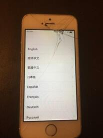 Apple iPhone 5s cracked screen