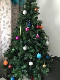 Christmas tree and decorations £30 07411823334