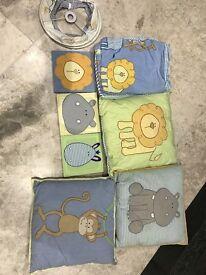 Nursery accessories with safari theme