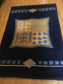 Rug with motifs