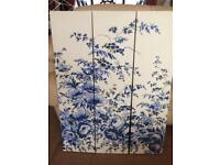 BLUE And WHITE CANVAS PICTURE