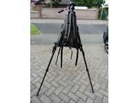 VELBRON CARBON FIBRE TRIPOD, WITH CLEY SPY ALL IN MULECARRIER GOOD CONDITION