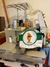 15 needle professional embroidery machine