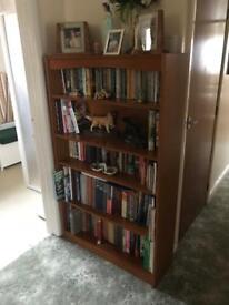 Teak Book Case 147cm by 90cm