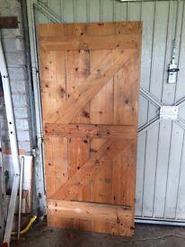 Antique pine door 34 x 75.5 inches