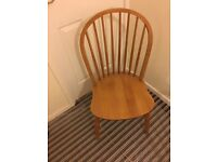 x6 Antique Pine Farmhouse Style Dining Chairs