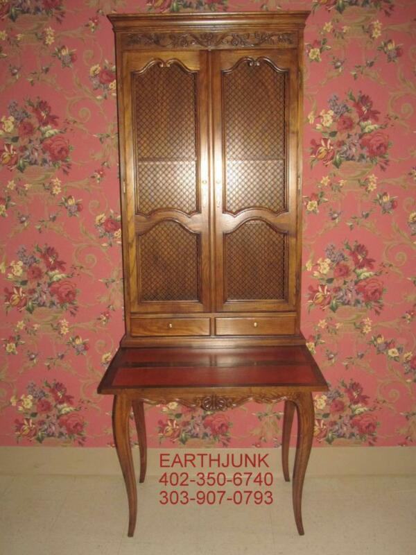 BAKER Furniture French Carved Drop Front Secretary Leather Writing Surface LOOK!