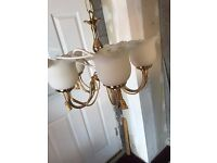 Gold colour light fitting