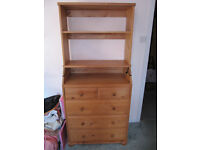 IKEA Pine Baby Change Unit with 5 drawers and removeable top shelf unit- £30